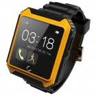 "Uwatch UTERRA 1.6"" Touch Screen Waterproof Bluetooth V4.0 Smart Watch w/ Pedometer - Black + Yellow"