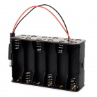 DIY 18V 12 x AA Batteries Power Supply Box for Arduino - Black