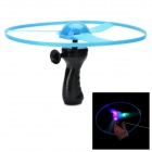 3-LED RGB Light Flashing Flying Saucer w/ Drawing Handle - Blue (3 x AG10)
