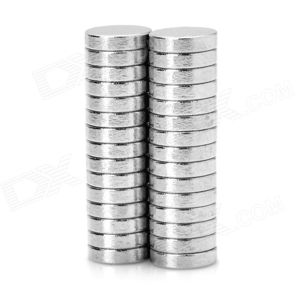 DIY 6 x 1.5mm Powerful NdFeB Magnets - Silver (30PCS)