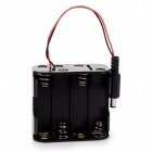 DIY 12V 8 * AA Batteries Power Supply Box for Arduino - Black