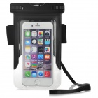 "Protective Waterproof PVC+ABS Bag Pouch w/ Arm Band for IPHONE 6 4.7"" - Black + Transparent"