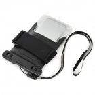Waterproof PVC+ABS Bag Pouch w/ Arm Band for IPHONE 6 - Black