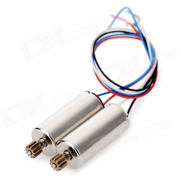 Replacement R/C Quadcopter CW &amp; CCW Motors for JJRC H8C - SilverOther Accessories for R/C Toys<br>Form ColorGolden + Silver + Multi-ColoredMaterialAluminum alloy + NdQuantity2 DX.PCM.Model.AttributeModel.UnitCompatible ModelDFD: F183; JJRC: H8CPacking List1 x CW motor (wire length: 13cm)1 x CCW motor (wire length: 13cm)<br>