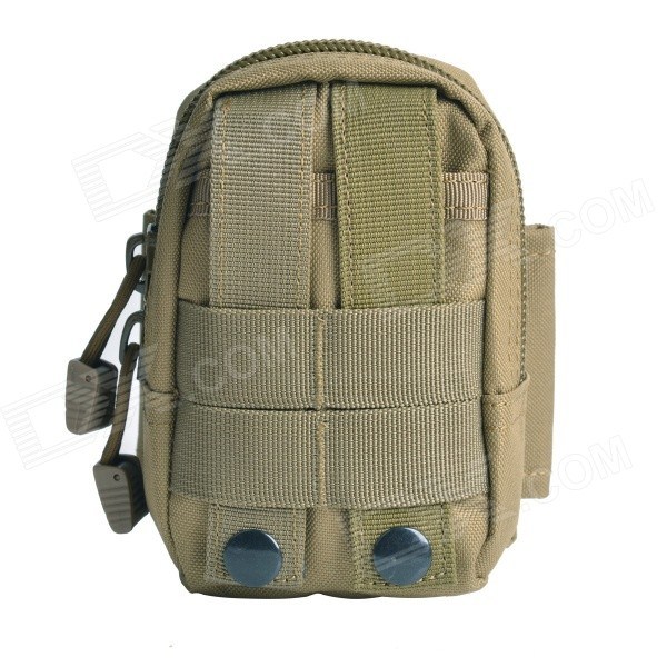Mutifunctional Water-Resistant Nylon Waist Bag - Mud Color