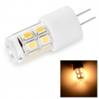 G4 2W Ceramic LED Crystal Lamp Warm White 3000K 200lm SMD 2835 - White + Transparent (AC / DC 12V)
