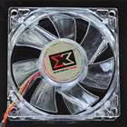 Stylish Heatsink Cooling Fan with 4-LED White Light for Computer Case (80mm)