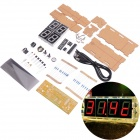 NEJE XM0004-1 DIY Large Screen 4-Digit Red LED Electronic Clock Kit - Multicolored