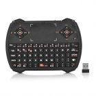V6 USB 2.0 69-Key 2.4GHz Wireless Air Mouse Keyboard w/ Touchpad & LED Indicator - Black