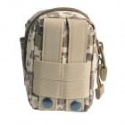 Outdoor Multi-functional Water-resistant Nylon + ABS Waist Bag - Camouflage