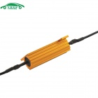 50W 6ohm Car LED Resistor Protector for LED lamp - Golden + Black