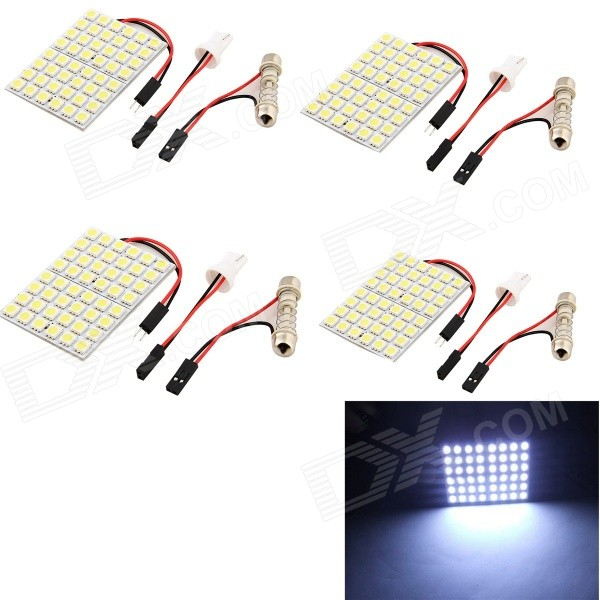 YouOKLight T10 Festoon 8W 750lm SMD 5050 White Car Bulb (12V / 4PCS)