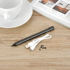 USB Rechargeable Capacitive Stylus Pen w/ Ball Pen for IPAD - Black