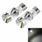 T10 9W LED Car Width Lamp White Light 6000K 490lm 3-SMD 3535 - Silver + Yellow (12~16V, 2pcs)
