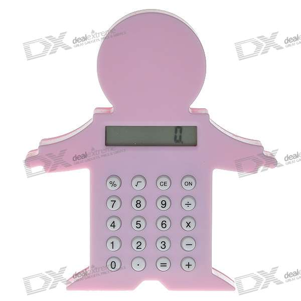 "1"" LCD Cute Book Clip 8-Digit Calculator (1*LR113/Color Assorted)"