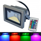 JIAWEN IP65 Waterproof Wired 10W 900lm RGB COB LED Project Light w/ Remote Controller (AC 100~220V)
