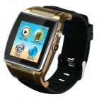 "GSM Bluetooth Watch Phone w/ 1.54"" Touch Screen, 0.3MP Camera, TF, Pedometer - Golden"