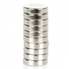 12x3mm Round NdFeB Magnet - Silver (10pcs)