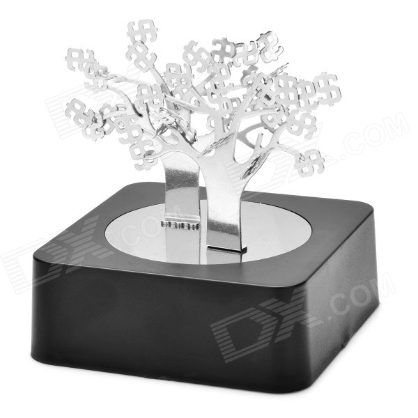 Magnetic Money Trees Building Educational Toy Set - Black + Silver