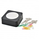 Creative Magnetic Clips Building Educational Toy Set - Black + Silver