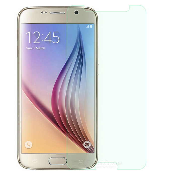 FineSource Clear Tempered Glass Film for Samsung S6 - Transparent