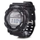 H9001 Men's Sport Plastic Band Digital Wrist Watch - Black