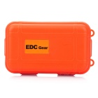 EDCGEAR Water & Shock Resistant Sealed Outdoor Survival Storage Case Box Container - Orange (S)