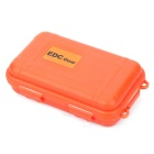 EDCGEAR Water & Shock Resistant Sealed Case Box Container - Orange (S)