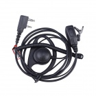 Baiston D-K Professional Ear-Hook Earphone for Walkie Talkie - Black
