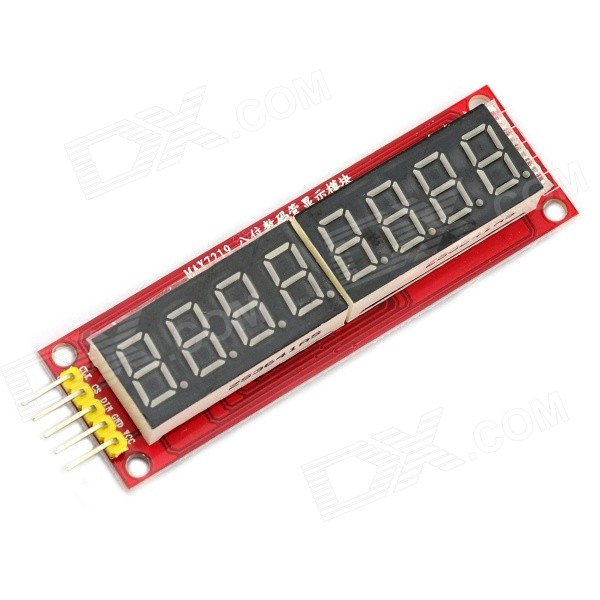 Jtron 8-Digital Display Module / 8-LED SPI Control Digital Module - Red