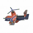 Solar Powered Dual-Engine Assembly Transport Plane Toy - Red + Blue