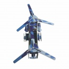DIY Solar Powered Assembly Transport Plane Toy - Blue Camouflage