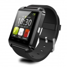 "Uwatch U8 Wearable 1.48"" Touch Screen Smart Watch w/ Bluetooth / Pedometer - Black"