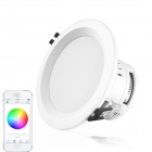 Aoluguya 9W 750lm Wi-Fi LED Ceiling Down Light w/ 20-SMD 2835 RGB LED + 5-SMD 5050 Warm White LED