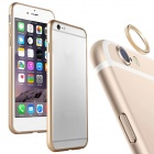Aluminum Alloy Bumper Frame Case + Lens Guard Ring Sticker for IPHONE 6 - Golden