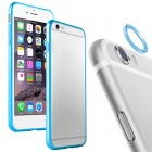 "Aluminum Alloy Bumper Frame Case + Lens Guard Ring Sticker for IPHONE 6 4.7"" - Blue"