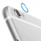 Aluminum Alloy Bumper Frame Case + Lens Guard Ring for IPHONE 6 - Blue