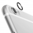 Aluminum Alloy Bumper Frame Case + Lens Guard Ring for IPHONE6 - Black