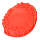 """Happy Birthday"" Lettering Round Silicone Cake Mould - Red"