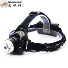 ZHISHUNJIA XQ19-T6 800lm Cool White 3-Mode Zooming Headlamp w/ XM-L2 T6 - Black (2 x 18650)