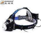 ZHISHUNJIA XQ19-T6 800lm XM-L2 T6 Cool White 3-Mode Zooming Headlamp - Black (2 x 18650)