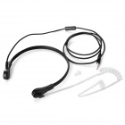 3.5mm Plug Throat Control Air Duct In-Ear Earphone w/ Mic. - Black
