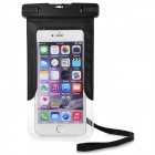 "Waterproof PVC + ABS Case for IPHONE 6 / IPHONE 6 PLUS / 4.7~5.5"" Cellphone - Black + Transparent"