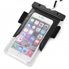 "Waterproof PVC + ABS Case for IPHONE 6 / 4.7~5.5"" Cellphone - Black"