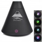 USB Volcano Design Mini Air Humidifier Purifier Mist Maker w/ Colorful Light LED Nightlight - Black