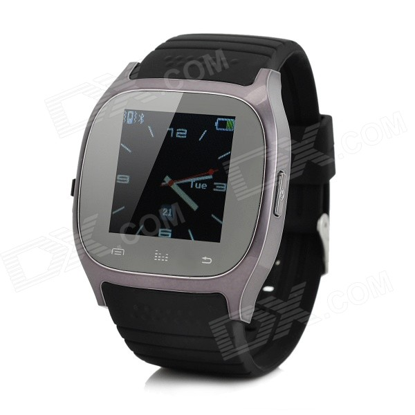 1.4 Bluetooth 3.0 Smart Watch w/ Pedometer, Altimeter - BlackSmart Watches<br>Form  ColorBlackQuantity1 DX.PCM.Model.AttributeModel.UnitMaterialAlloy+PlasticShade Of ColorBlackWater-proofNoBluetooth VersionBluetooth V3.0Touch Screen TypeTFTOperating SystemNoCompatible OSAndroid, iOSBattery Capacity230 DX.PCM.Model.AttributeModel.UnitBattery TypeLi-ion batteryStandby Time180 DX.PCM.Model.AttributeModel.UnitOther FeaturesScreen Resolution:128 x 128;<br>Memory: 4MB+4MB;<br>Speaker: Built-in 8/0.5W speaker;<br>Operating languages: English, French, Spanish, Portuguese, Korean, Italian, German, Indonesian, Finnish, Vietnamese, Turkish, Russian, Arabic, Thai, Swedish; CPU: ARM7, 360MHzPacking List1 x Smart Watch1 x USB charging cable(60cm)1 x Chinese/English User Manual<br>