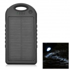 12000mAh Dual USB Solar Power Bank for IPHONE 5S / 5C / 5 - Black