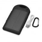 12000mAh Dual USB Solar Power Bank для Iphone 5S / 5C / 5 - Черный