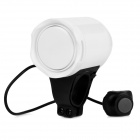 Bike Bicycle Anti-Theft Security Alarm Siren Horn - White (4 x AG13)