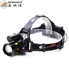 ZHISHUNJIA HT01-T6 2-LED 800lm 10W + 2W White + Red Light Headlamp - Black (3 x AA / 2 x 18650)
